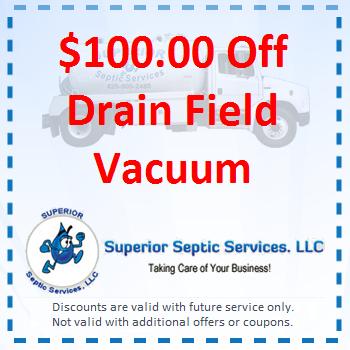 100 Off Drain Field Vacuum