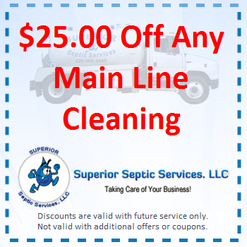 25 Off Any Main Line Cleaning
