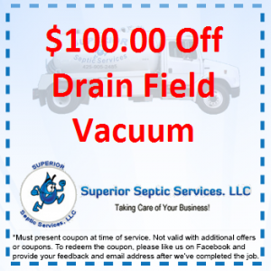 $100 Off Drain Field Vacuum