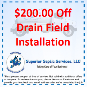 $200 Off Drain Field Installation