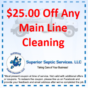 $25 Off Any Main Line Cleaning